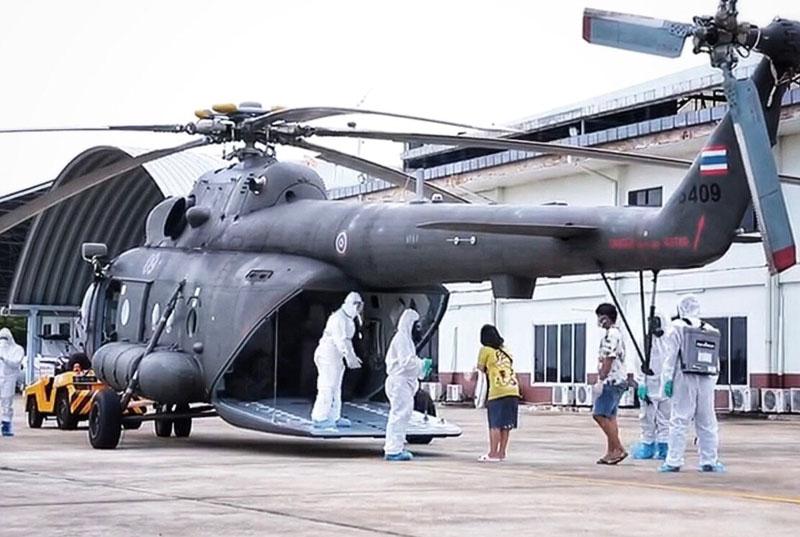 故郷で治療希望の新型コロナ患者陸軍ヘリによる医療搬送で帰省 - ワイズデジタル【タイで生活する人のための情報サイト】