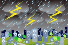 今日のバンコクは広い範囲で雨天、一部地域では大雨も