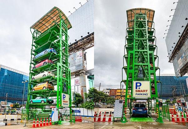 MRTサムヤーン駅に続き、10月1日よりフワイクワン駅のタワーパーキング(機械式駐車場)が運用開始。MRT利用者は2時間15B、一般は1時間50Bで駐車でき、アプリで空車状況などを確認可能。